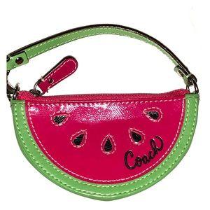 RARE Watermelon Coach Coin Purse